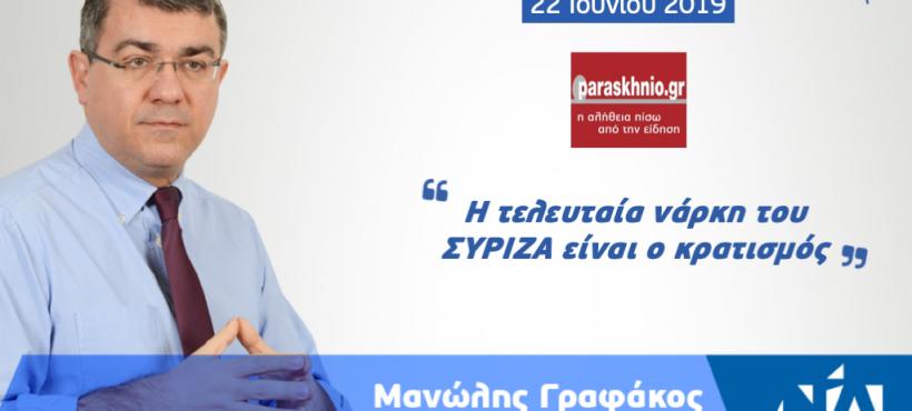 Η τελευταία νάρκη του ΣΥΡΙΖΑ είναι ο κρατισμός