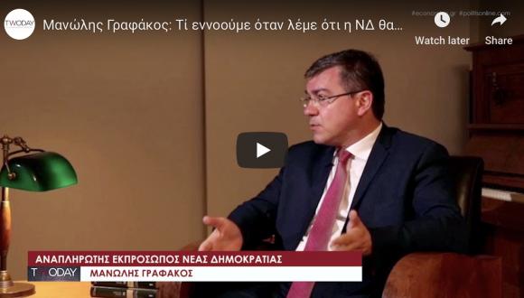 Μανώλης Γραφάκος: Τί εννοούμε όταν λέμε ότι η ΝΔ θα μειώσει το ρόλο, την παρέμβαση και το κόστος του κράτους